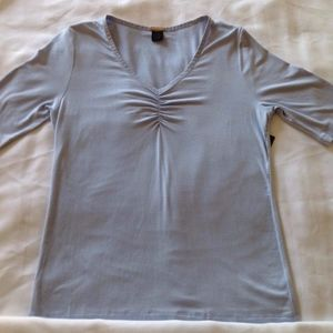NWT Magaschoni Ladies Blue Short Sleeve Top Sz M